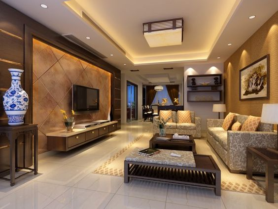 افكار جديدة لتصميم غرف معيشة مودرن