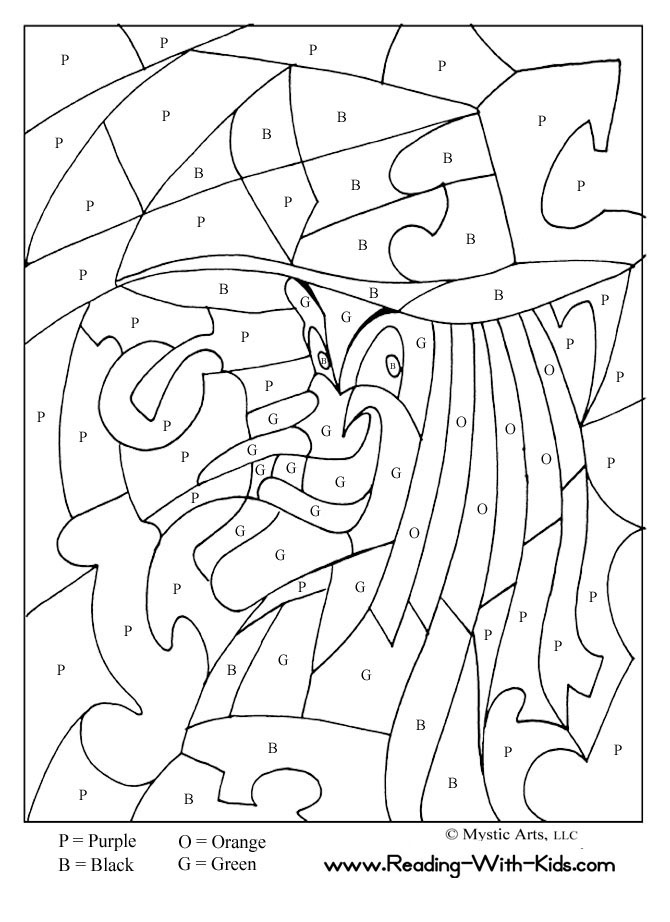 Halloween Coloring Pages Spanish Numbers