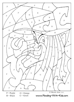 Halloween Math Coloring Sheets 2nd Grade