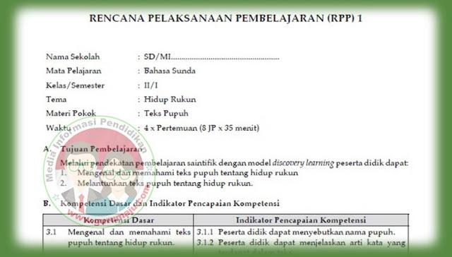 Download RPP MULOK Bahasa Sunda SD Lengkap