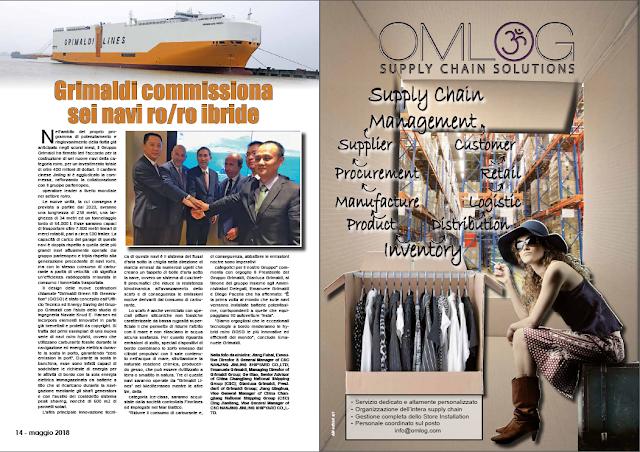 MAGGIO 2018 PAG 14 - Grimaldi commissiona sei navi ro/ro ibride
