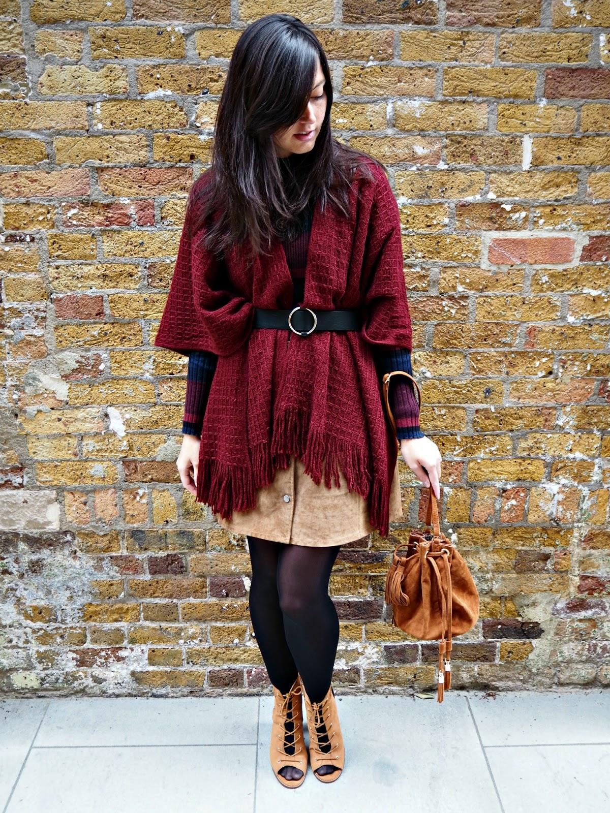 fashion cosy knittwear shawl matalan