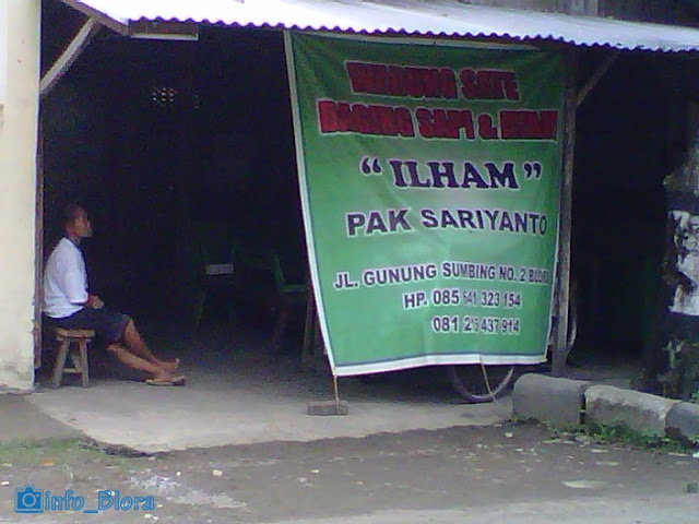 """Sate Ayam dan Sapi """"ILHAM"""" Pak Sariyanto"""