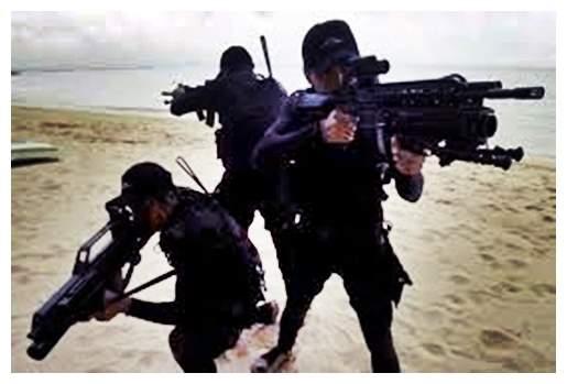 Gambar aksi pasukan Denjaka milik TNI AL
