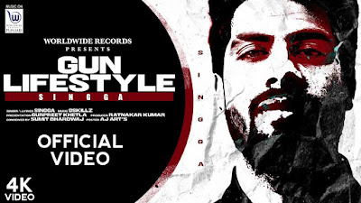 Presenting Gun lifestyle lyrics penned by Singga. New Punjabi song Gun lifestyle sung by Singga & music given by Gskillz & out by Worldwide Records Punjabi