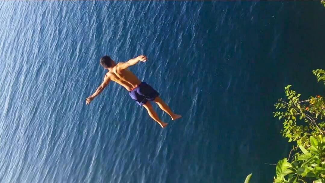 Cliff Jumping at Sabang Kaputian Samal Island