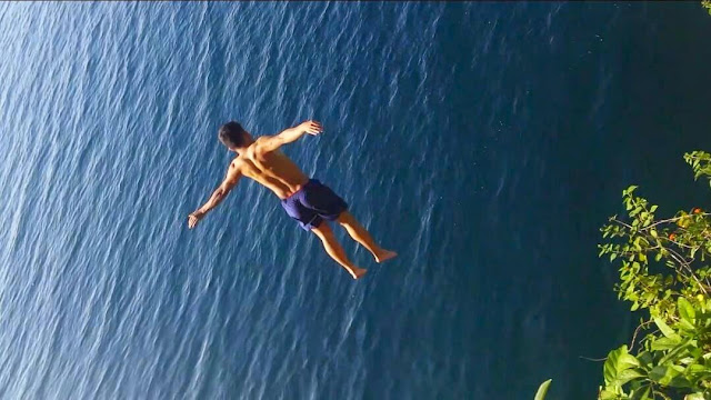 Cliff Jumping at Sabang Kaputian Samal Island