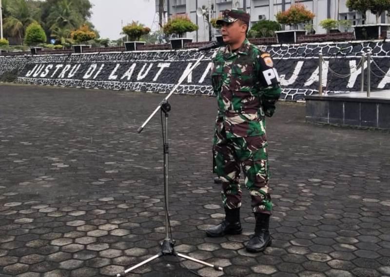 Danpom Lantamal IV Perkenalkan Diri Kepada Segenap Prajurit dan PNS Lantamal IV