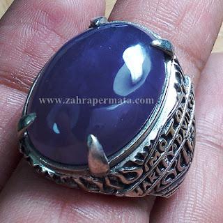 Cincin Batu Permata Lavender Baturaja