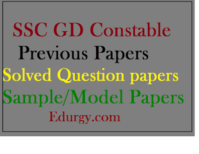 SSC GD Constable Previous Question Papers PDF Download