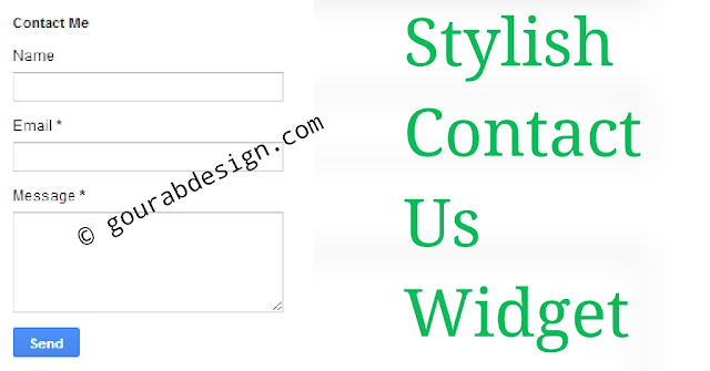tips to add contact from page on blogger
