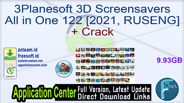 3Planesoft 3D Screensavers All in One 122 [2021, RUSENG] + Crack_ ZcTeam.id