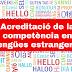 Acreditació de la competència en llengües estrangeres