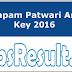 CG Vyapam Patwari Answer Key 2016 CG Patwari Ans Sheet