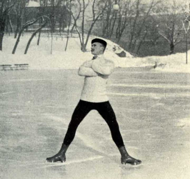 Nikolai Panin, AKA Kolomenkin Russian figure skater, striking a pose the ice. The Olympics Special Figures Skating Gold Medal champion 1908. Your Russians are missing and other stories about past Olympics. marchmatron.com