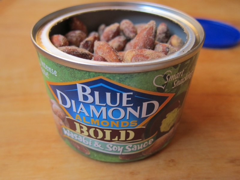 review blue diamond bold wasabi soy sauce almonds brand eating