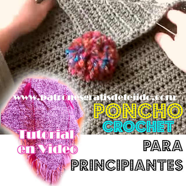 video tutorial de poncho crochet paso a paso