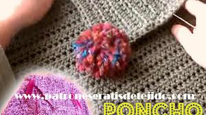 Cómo tejer un Poncho Crochet Fácil para todas las tallas