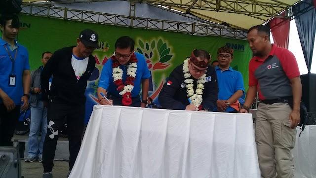 Ribuan Peserta Fun Bike Saksikan Kerjasama PT. PNM dengan Pemda Subang