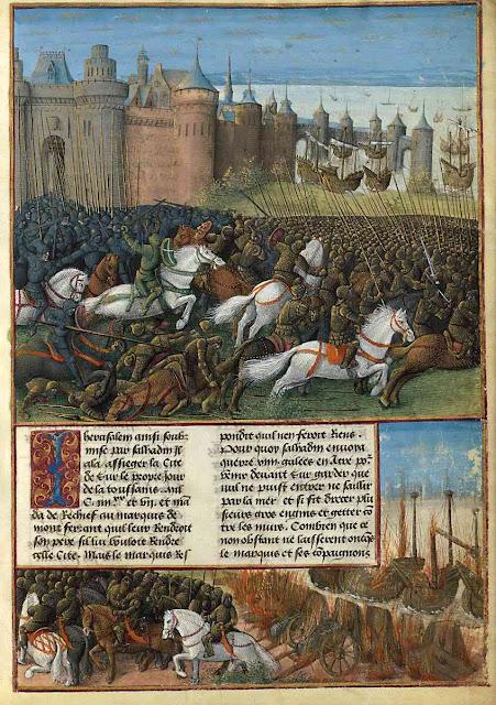 'Passages faiz oultre_mer', Sébastien Mamerot, Gallica, bnf, Département des Manuscrits, Français 5594