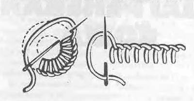 вышивка обметочным швом