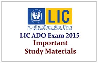 LIC ADO Exam 2015- Important Study Materials