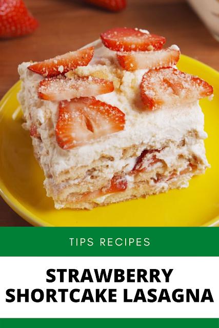 ✓ Strawberry Shortcake Lasagna