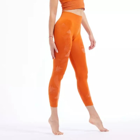 Colanti fara cusaturi 7/8 Yoga portocaliu KIMJALY