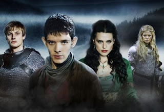 'MERLIN,' SERIES THREE (2011). Review of the BBC's version with Colin Morgan centering on the Arthurian character, Merlin. Text © Rissi JC