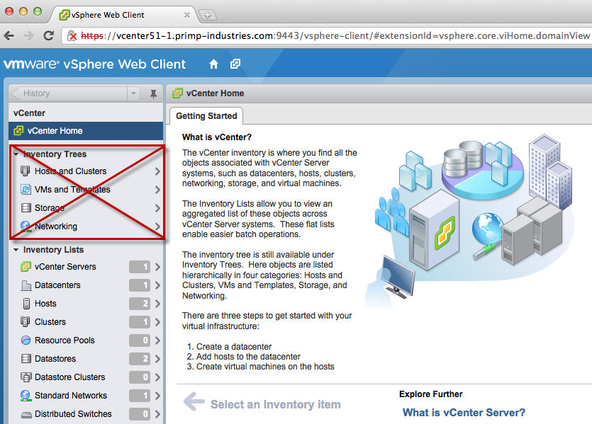 Getting Rid of the Inventory Tree in the New vSphere Web Client