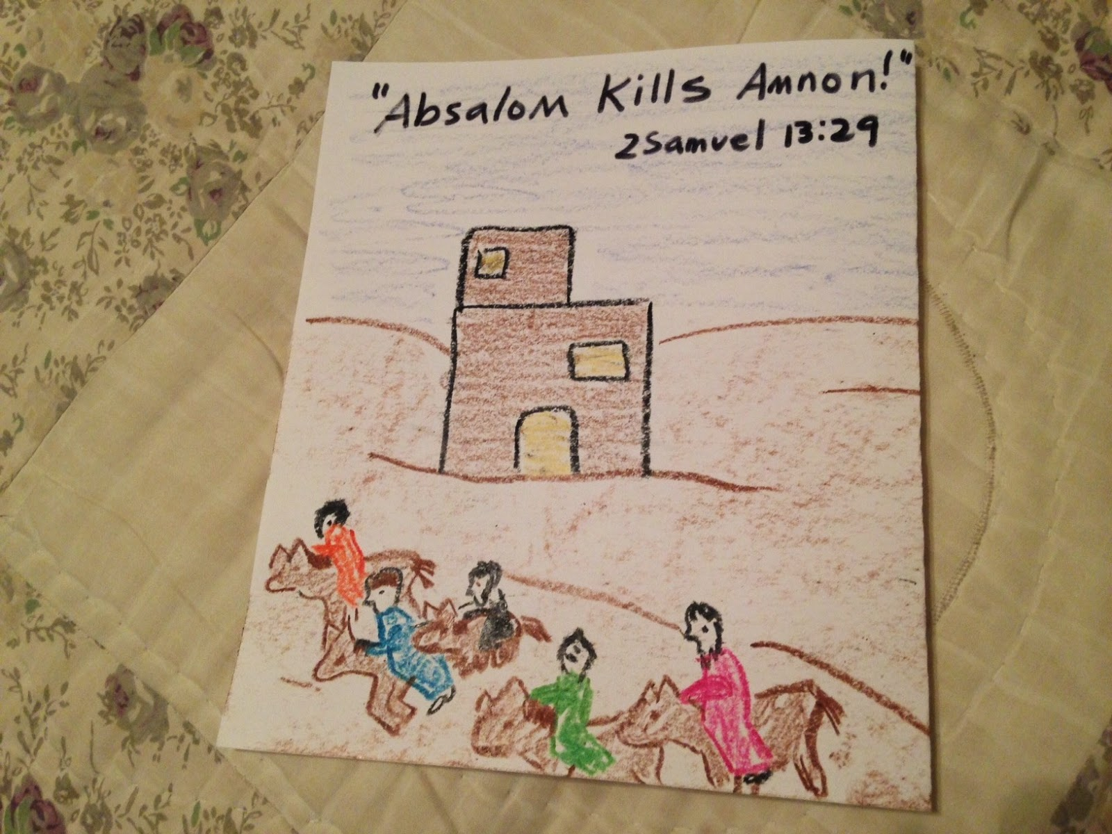 Children S Bible Lessons Lesson Amnon Tamar And Absalom