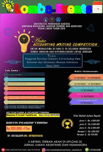 Lomba Akuntansi Nasional ANTIC Undiksha 2019 Mahasiswa