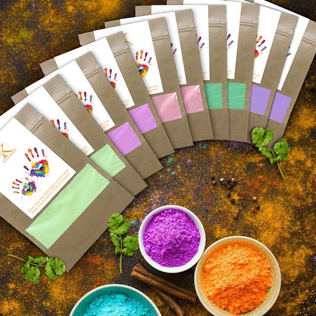 Kimayra Organic Holi Rangoli Colors Gulal Powder