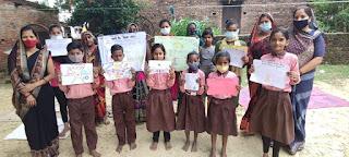 #JaunpurLive : पोस्टर और चित्रकला के माध्यम से संचारी रोंगो के बारे में किया गया जागरूक