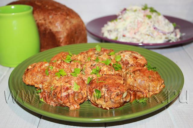 рецепт котлет в томатно-сметанном соусе