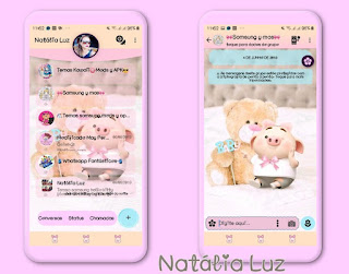 Teddy Bear & Pig Baby Theme For YOWhatsApp & Fouad WhatsApp By Natalia Luz
