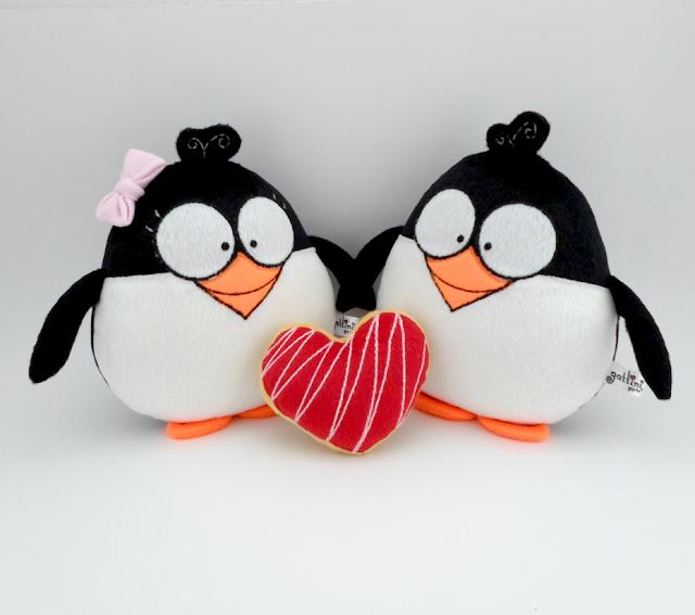 Pareja de boda personalizada, pingüinos de peluche guyuminos novios regalo aniversario amor ave kawaii tierno