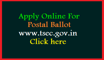 Teachers Employees who are on Duty in Telangana Muncipal Elections 2020 need to cast their vote through Post Ballot. Here is the Process to Apply Online for Postal Ballot at Official website. Step by Step process to submit Application Form for Postal Ballot at www.tsec.gov.in.in/postalballot by new user. Teachers employees have to get Postal Ballot to caste their Vote in Muncipal Elections 2020 Apply Here