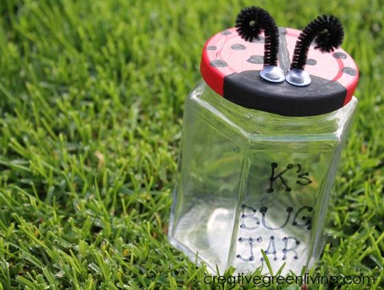 How to make a bug jar with a ladybug lid - easy STEM craft for kids!