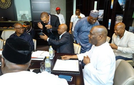 See Atiku, Saraki, Peter Obi At Their Strategy Meeting In Dubai