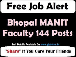MANIT Faculty Jobs
