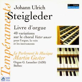 STEIGLEDER, J.U. - Livre d'orgue