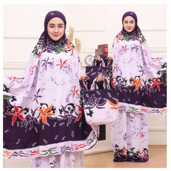 Mukena Batik RP 135 Ribu Bahan Adem, Awet dan Tidak Lusuh, Batik berkualitas, Bruruan di Order Kaka