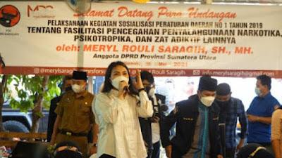 Meryl Saragih Ajak Kaum Muda Jadi Pelopor Berantas Narkoba
