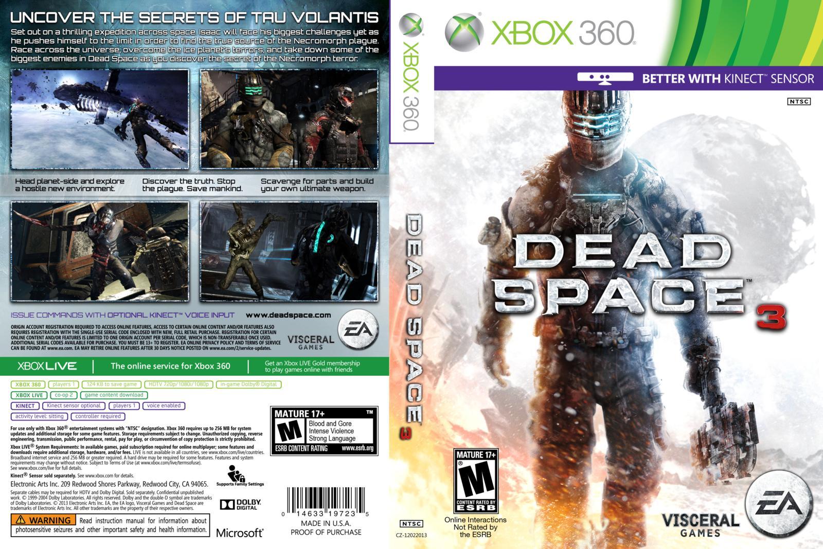 Capa Scan Capa Cover Caratula Xbox360 Dead Space 3