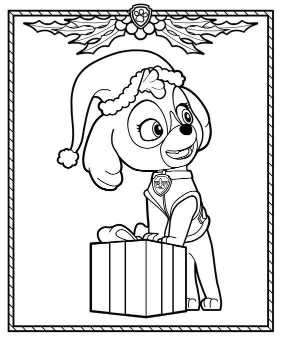 Paw patrol coloring pages 9