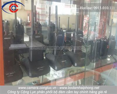 Một số sản phẩm bộ đàm Cộng Lực cung cấp trên thị trường.