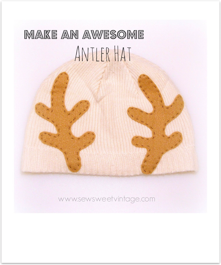 how to make an antler hat with craft felt and fabric fuse