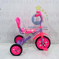 Sepeda Roda Tiga BMX ET1225 Sandaran Pink/violet