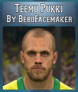 PES 2017 Faces Teemu Pukki by Bebo